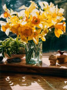 Carol Evans Daffodils From The Garden