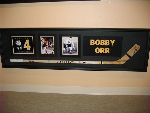 Bobby Orr framed hockey stick
