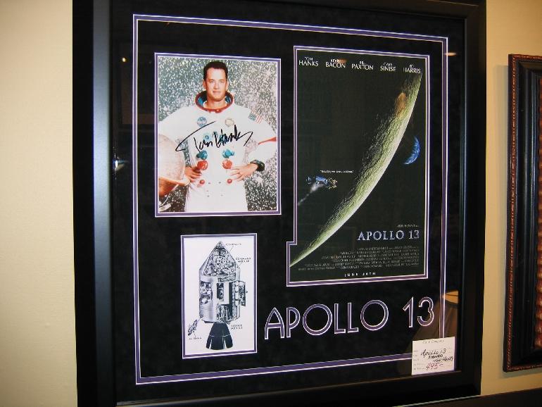 apollo 13 movie memorabilia framed