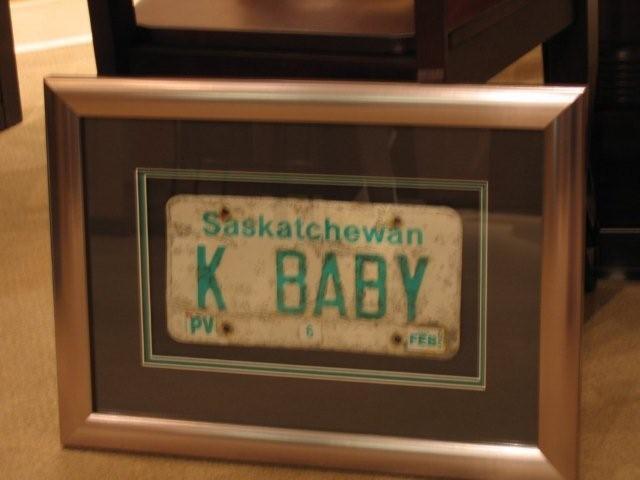 framed license plate