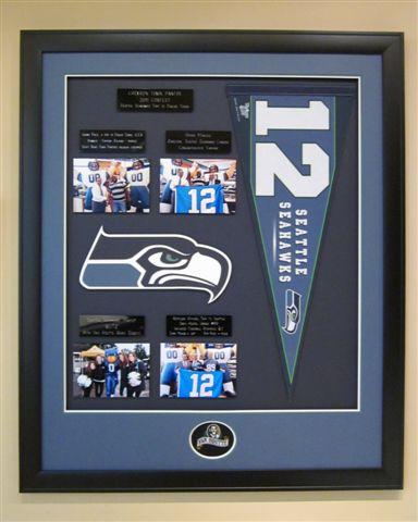 seattle seahawks prize framed