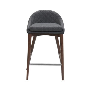 Mila Counter Stool Dark Grey Black Velvet
