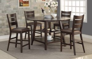 Parkside 60 in Round Tall Table with Drop Leaves